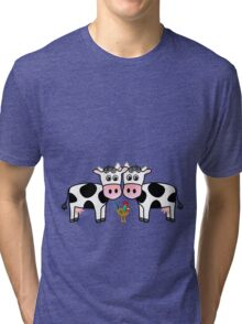 Two cows and a rooster Tri-blend T-Shirt