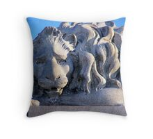 Forlorn Lion Throw Pillow