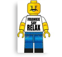 Lego Frankie Say Relax Canvas Print