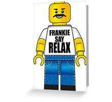 Lego Frankie Say Relax Greeting Card