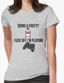 Doing a party? Fuck off i'm playing. Xbox Black font T-Shirt