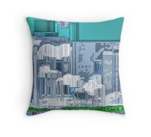 The Blight of Industrialization Throw Pillow