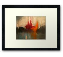 Cataclysmic. 30 x 24. Acrylic Painting. Framed Print