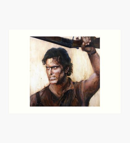 Bruce Campbell V.S Army of Darkness Art Print
