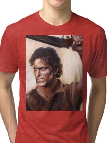 Bruce Campbell V.S Army of Darkness Tri-blend T-Shirt