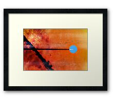 Goodbye Blue Sky... Framed Print