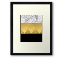 Stacked - gold foil black and marble cell phone case golden urban minimal retro modern city hipster  Framed Print