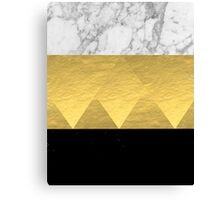 Stacked - gold foil black and marble cell phone case golden urban minimal retro modern city hipster  Canvas Print