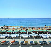 Colorful Cinque Terre Beach by hipaholic
