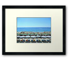 Colorful Cinque Terre Beach Framed Print