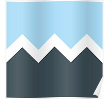 Abstract Mountains Poster