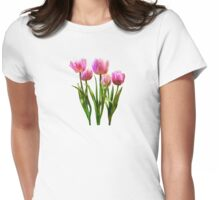 Pink Pastel Tulips Womens Fitted T-Shirt
