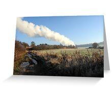 Steam Trail Greeting Card