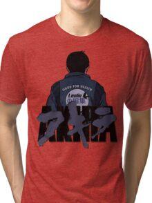 akira x leolio BLUE Tri-blend T-Shirt