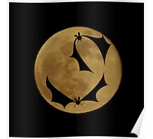 Bats and the full moon Poster