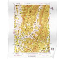 Massachusetts  USGS Historical Topo Map MA Hancock 351772 1944 31680 Poster