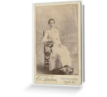 Wade & Sandifer Estate / Unidentified Lady, Mayfield, Kentucky Greeting Card