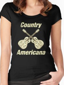 Country Americana Women's Fitted Scoop T-Shirt
