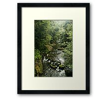 Cloudy River Framed Print