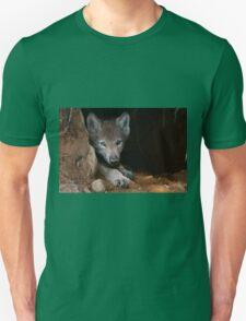 Timber Wolf Pup in Den T-Shirt