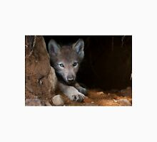 Timber Wolf Pup in Den Unisex T-Shirt