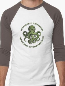 Cthulhu Tee- Cryptozoology Dept. Men's Baseball ¾ T-Shirt