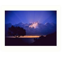 """ Ave Maria ""  sanrise  landscape  -  Zakintos . Greece. by  Brown Sugar. Views (719). Favs (5) . Thanks friends !!!!!! Art Print"