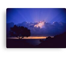 """ Ave Maria ""  sanrise  landscape  -  Zakintos . Greece. by  Brown Sugar. Views (719). Favs (5) . Thanks friends !!!!!! Canvas Print"