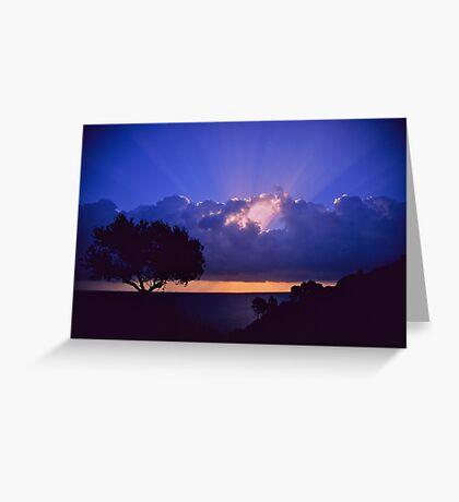 """ Ave Maria ""  sanrise  landscape  -  Zakintos . Greece. by  Brown Sugar. Views (719). Favs (5) . Thanks friends !!!!!! Greeting Card"