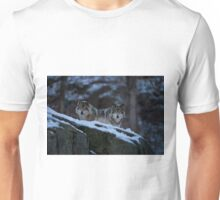 Timber Wolves In Late Evening. Unisex T-Shirt