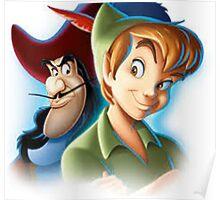 Peter Pan - Pan and Hook Poster