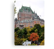 Chateau Frontenac from the Lower city Canvas Print