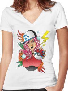 Gotta Catch Em All Women's Fitted V-Neck T-Shirt