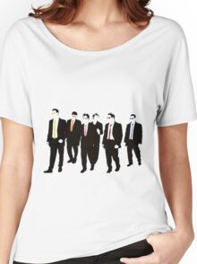 Reservoir Dogs with colored ties and glasses Women's Relaxed Fit T-Shirt