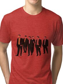Reservoir Dogs with colored ties and glasses Tri-blend T-Shirt
