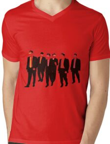 Reservoir Dogs with colored ties and glasses Mens V-Neck T-Shirt