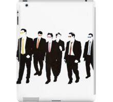Reservoir Dogs with colored ties and glasses iPad Case/Skin