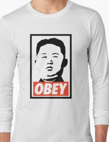Obey Kim Jong Un Long Sleeve T-Shirt