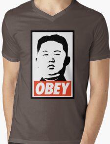 Obey Kim Jong Un Mens V-Neck T-Shirt