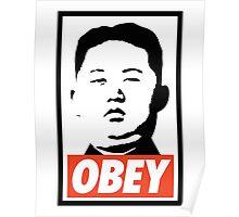 Obey Kim Jong Un Poster