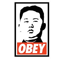 Obey Kim Jong Un Photographic Print