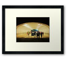 tunnel pedestrians Framed Print