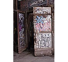 Graffiti Doors Photographic Print