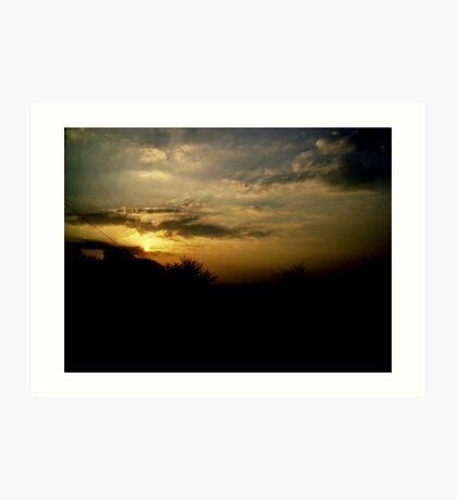 Sunset over Penzance Art Print