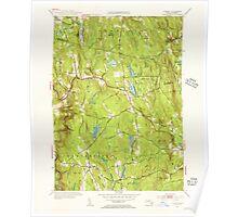 Massachusetts  USGS Historical Topo Map MA Goshen 351733 1955 31680 Poster