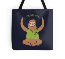 Om Yoga Sloth Tote Bag