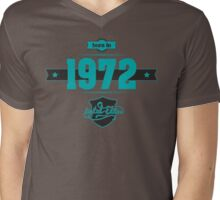 Born in 1972 (Blue&Darkgrey) Mens V-Neck T-Shirt