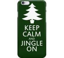 Keep calm and jingle on for christmas  iPhone Case/Skin