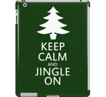 Keep calm and jingle on for christmas  iPad Case/Skin