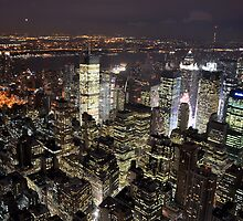 Amazing City Lights of Manhatten by Rosy Kueng Photography